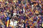 Esteladas en Estadio Olímpico de Berlín durante la final de la Champions entre Barça y Juventus.