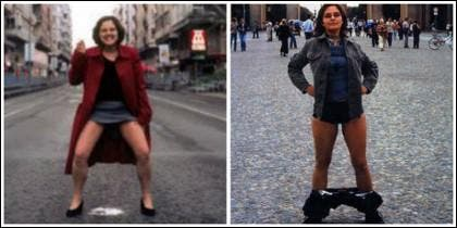 La activista porno Águeda Baños.