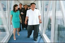 El líder norcoreano en el aeropuerto