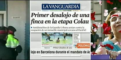 La alcaldesa de Barcelona ordena su primer desalojo.