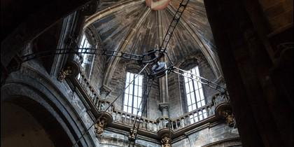 Cimborrio en la catedral compostelana.