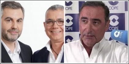 Carlos Alsina, Juan Ramón Lucas y Carlos Herrera.