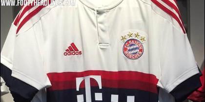 Camiseta visitante Bayern 2016.