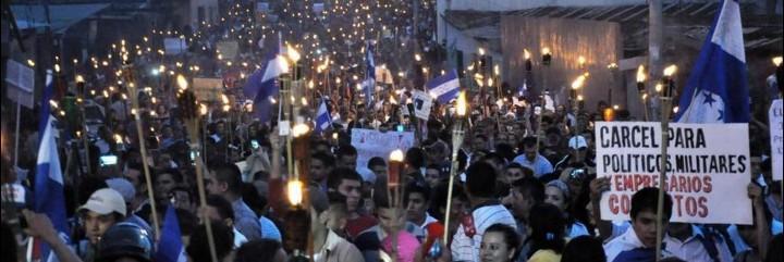 Marchas de las antorchas en Honduras