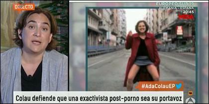 Ada Colau en Espejo Público (Antena 3).