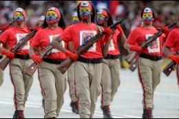 Desfile militar en Venezuela
