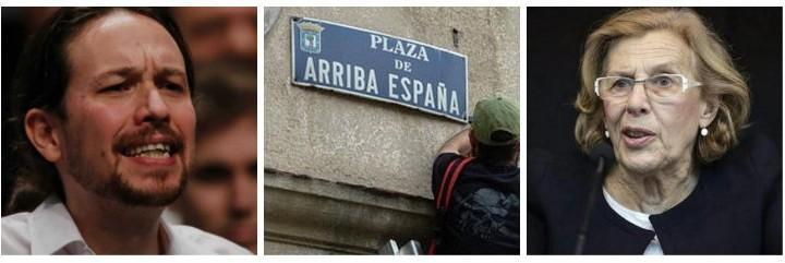 Pablo Iglesias, la calle 'Arriba España' y Manuela Carmena.