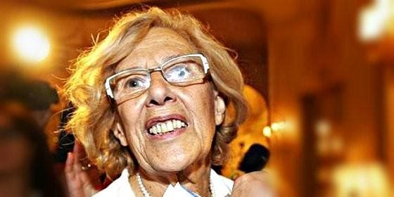 Manuela Carmena, alcaldesa podemita de Madrid.