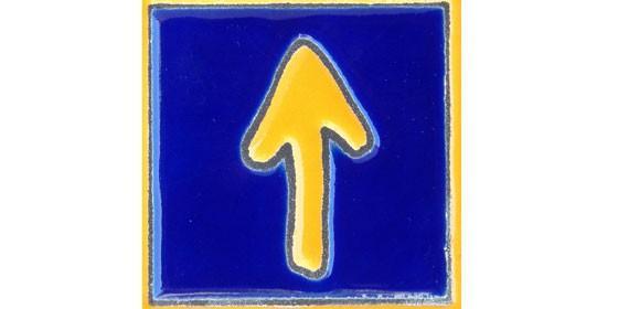 Flecha amiga que señala los caminos del Camino.