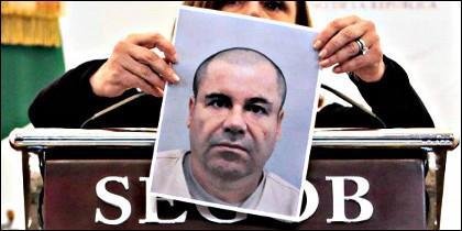 ''El Chapo' Guzmán, tal como aparecía justo antes de fugarse de la cárcel.