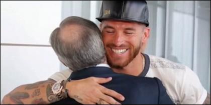 Sergio Ramos y Florentino Pérez.