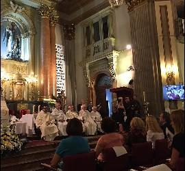 Misa del dia de los abuelos en San Antón