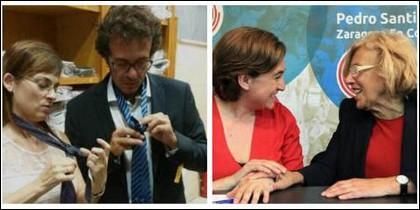 Kichi, Ada Colau y Manuela Carmena.