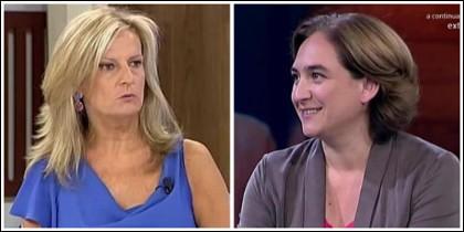 Isabel San Sebastián y Ada Colau.