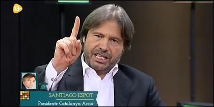 Apasionada bronca con Santiago Espot.