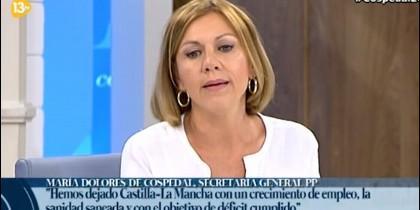 María Dolores de Cospedal en 13TV.