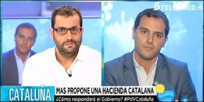 Ibán García del Blanco y Albert Rivera.