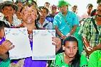 Indígenas de la etnia Ngäbe Buglé, de Panamá
