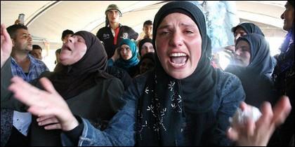 Prisioneras yazidíes.