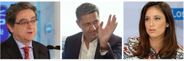 Enric Millo, Xavier García Albiol y Andrea Levy, los nuevos rostros del PP catalán.