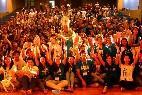 For mundial jóvenes cristianos estudiantes