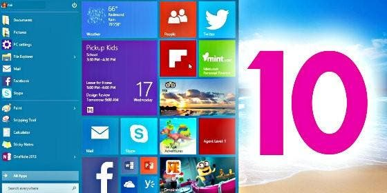 El sistema operativo de Windows 10.