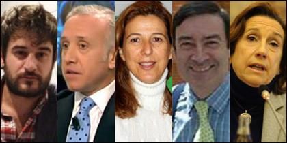 Jabois,Inda, Romero, Pedrojota y Prego.