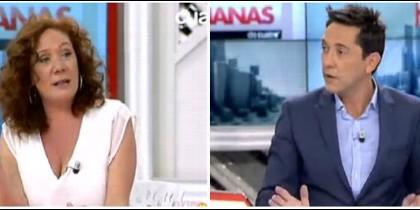 Cristina Fallarás y Javier Ruiz.