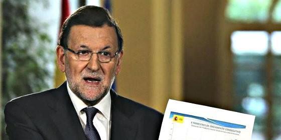 Mariano Rajoy con los presupuestos.