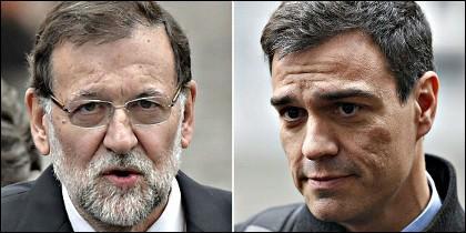 Mariano Rajoy con Pedro Sánchez.