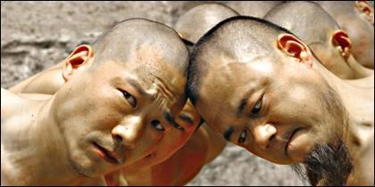 Monjes shaolín en China.