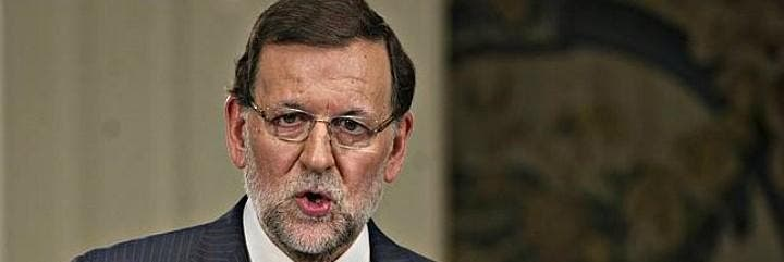 Mariano Rajoy, durante su rueda de prensa en el Palacio de La Moncloa.