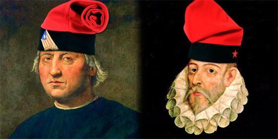 Colón y Cervantes.