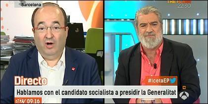 Miquel Iceta (PSOE) y Miguel Ángel Rodríguez.