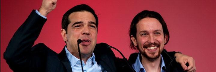 Alexis Tsipras y Pablo Iglesias, podemismo en estado puro.