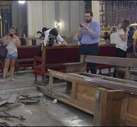Bomba en la zaragozana Basílica del Pilar