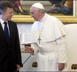 Francisco, con Juan Manuel Santos