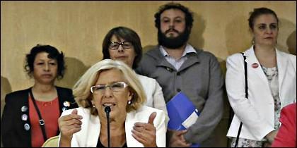 Carmena, Zapata y otros podemitas de Ahora Madrid.