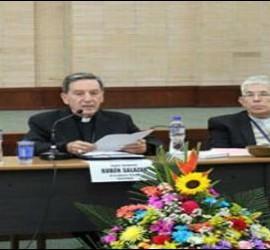 El cardenal Salazar presidiendo el CELAM