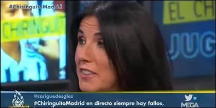 Cristina Cubero, en 'El Chiringuito'.