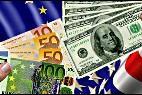 Euro y dólar.