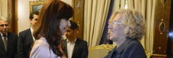 Manuela Carmena y Cristina Kirchner.