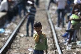 Emigrantes en Macedonia, camino de la UE