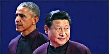El presidente de EEUU, Barack Obama y el presidcente de China, Xi Jinping.