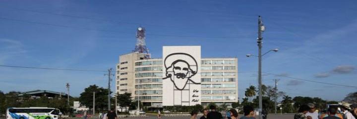 Félix Varela en las plaza dela Revolución