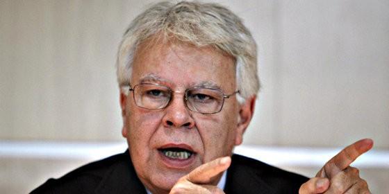 Felipe González, ex presidente socialista de España.