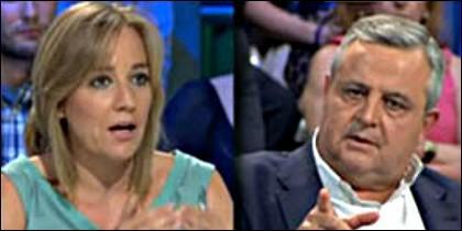 Tania Sánchez y Antonio Martín Beaumont.