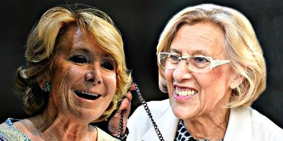 Esperanzxa Aguirre y Manuela Carmena.