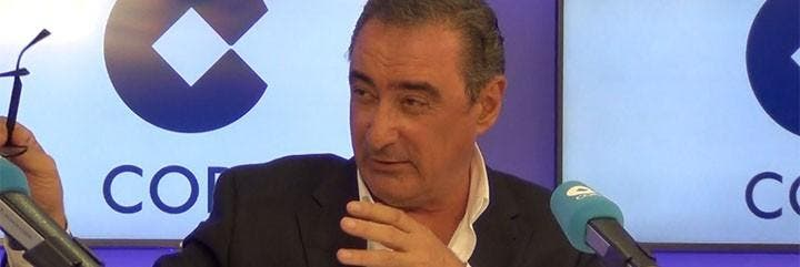 Carlos Herrera, durante su presentación en la Cadena COPE.