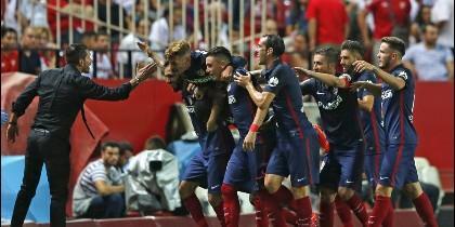 Simeone y el  Atlético de Madrid.